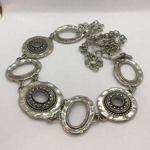 Chico's Belt - Textured adjustable silver loops